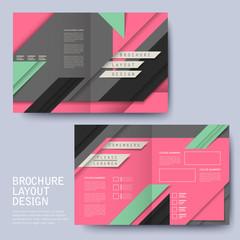 geometric style half-fold template brochure
