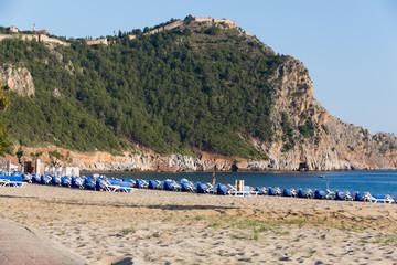 castle of Alanya  and beach of Cleopatra, Turkey
