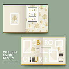 lovely half-fold template brochure