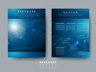 hi-tech style flyer template