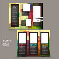 abstract geometric style tri-fold template brochure