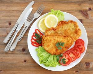 Schnitzel mit Gemüse