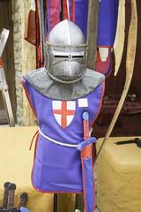 Armor with helmet
