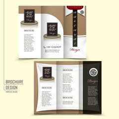 tri-fold template brochure for restaurant advertising