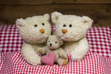 Eltern Konzept: Teddy Bären Familie