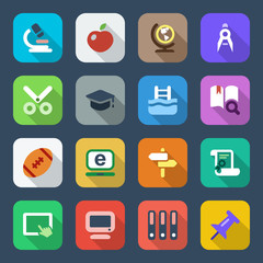 flat school iconset 2 colorful
