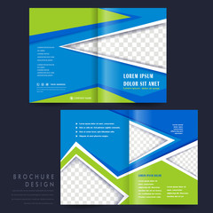 half-fold template for advertising concept brochure