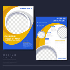 modern flyer template for business concept