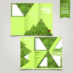 green template for ecology concept brochure