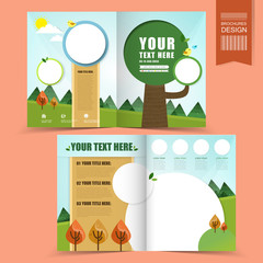 colorful template for ecology concept brochure