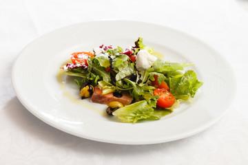 salmon with fresh salad