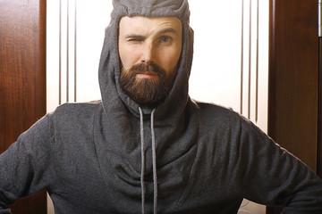 bearded tourist