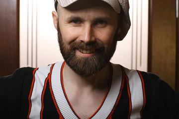 happy bearded portrait
