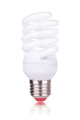 economical bulb isolated