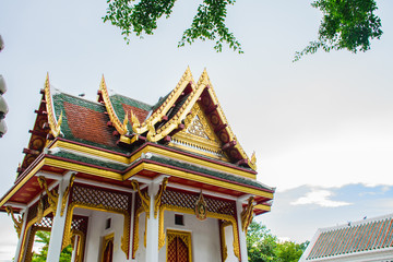 Buddhist pavilion architecture in thailand