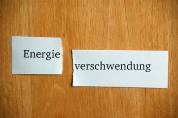 Energie-verschwendung