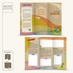 tri-fold fairy style template for business advertising brochure