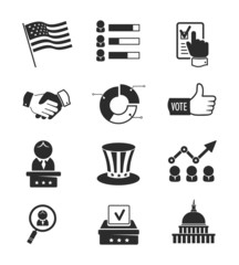 Voting and elections icon set