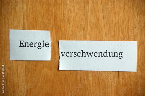 canvas print picture Energie-verschwendung