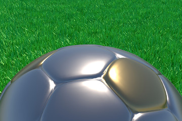 Gold And Silver Football