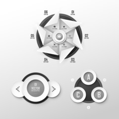 Set of vector templates for infographic or presentation