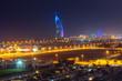 Cityscape of Dubai at night, UAE