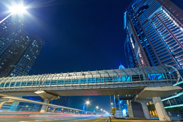 Metro station in Dubai Internet City, UAE.