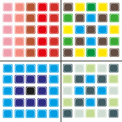 4 abstract pattern of squares of different colors