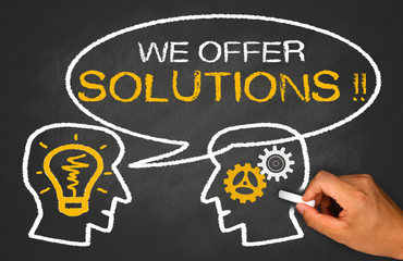 we offer solutions on chalkboard