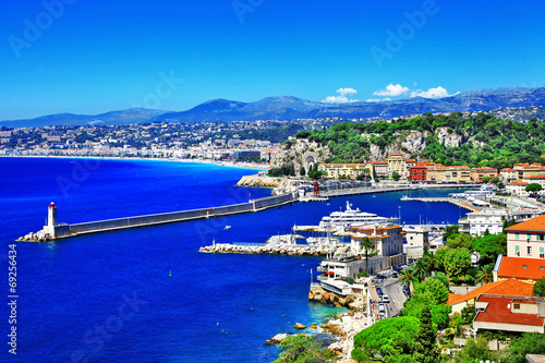scenic coast of Nice, french riviera - 69256434