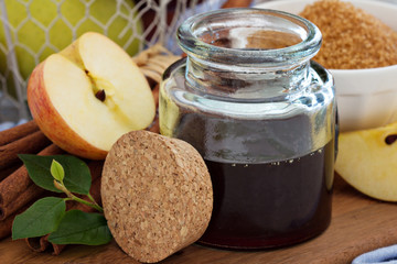 Apple syrup with cinnamon and spices