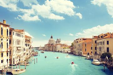 Grand Canal and Basilica Santa Maria della Salute, Venice, Italy