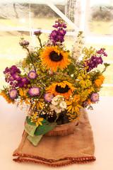 Exhibition Flower Arrangement in tent