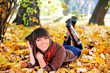 Happy cute woman outdoor portrait.