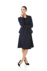 Thinking business woman.