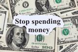 Stop spending money poster