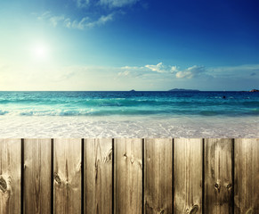 fence on the beach