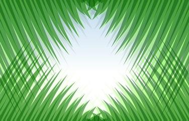 Abstract view thru artifical symmetric grass