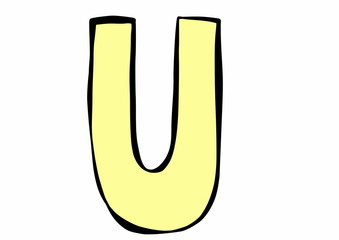 doodle letter U