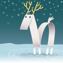 White Reindeer Paper