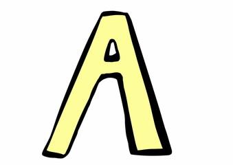 doodle letter A