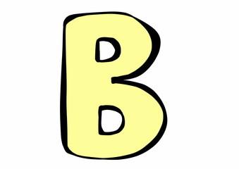doodle letter B