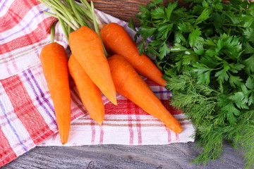 Carrots, dill and parsley