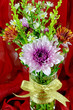 Small Bouquet of Spray Type of Purple Chrysanthemum.