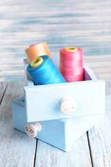 Sewing Accessories in wooden boxes