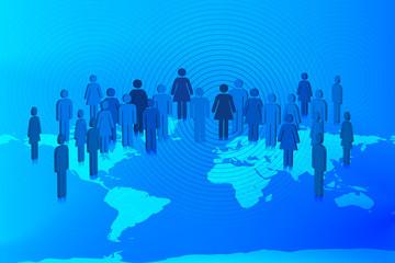 Globalization concept vector design