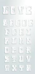 Set of retor letters