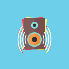 colorful audio speaker icon
