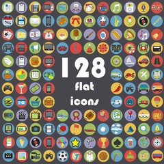 Big collection of flat icons