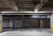 Parking garage underground interior, neon lights in dark - 69261267
